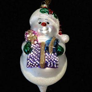Vtg 'Old World Christmas' Snowman Glass Ornament